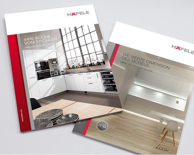 Häfele - Positionierung Loox und Küchenbroschüre