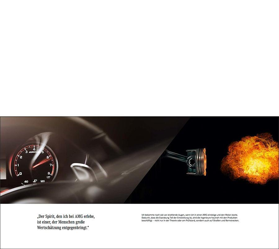 Mercedes-AMG Motor Verbrennungs-Prozess