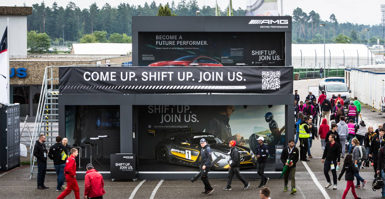 Mercedes-AMG Stand auf der Formula Student