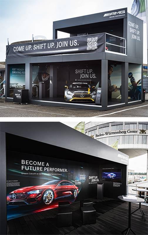 Mercedes-AMG Stand auf der Formula Student - Detailansichten