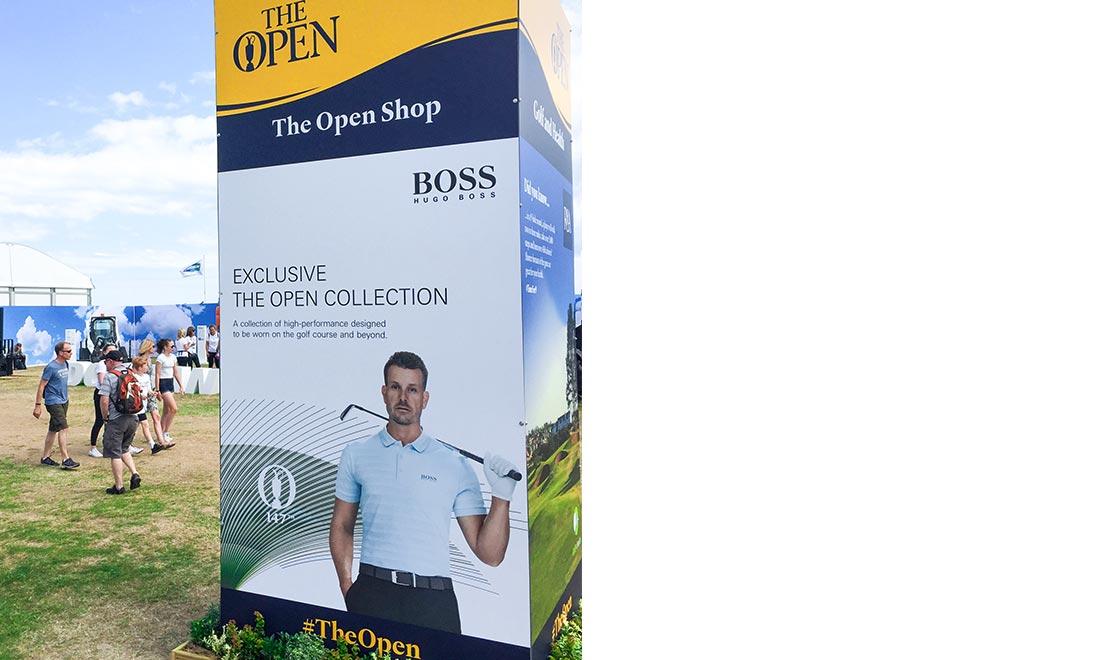 Hugo Boss Stehle auf Golfplatz
