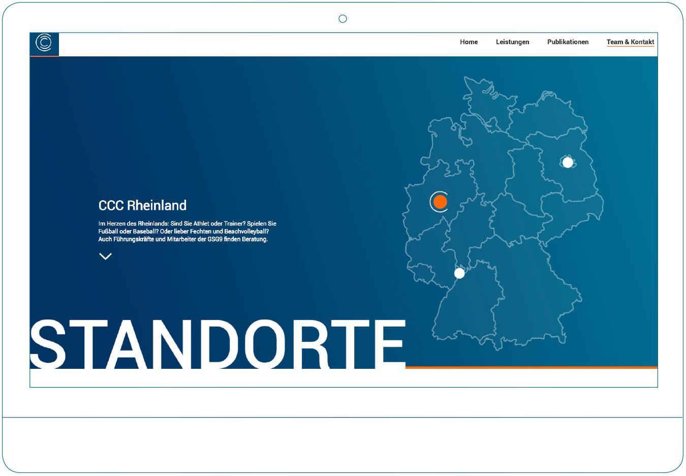 Neue CCC-Website auf illustriertem Bildschirm