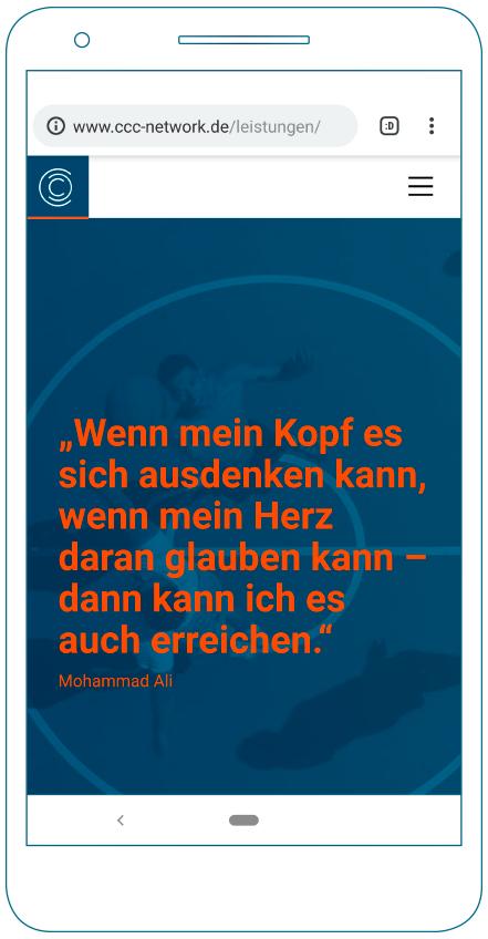 Neue CCC-Website auf illustriertem Smartphone