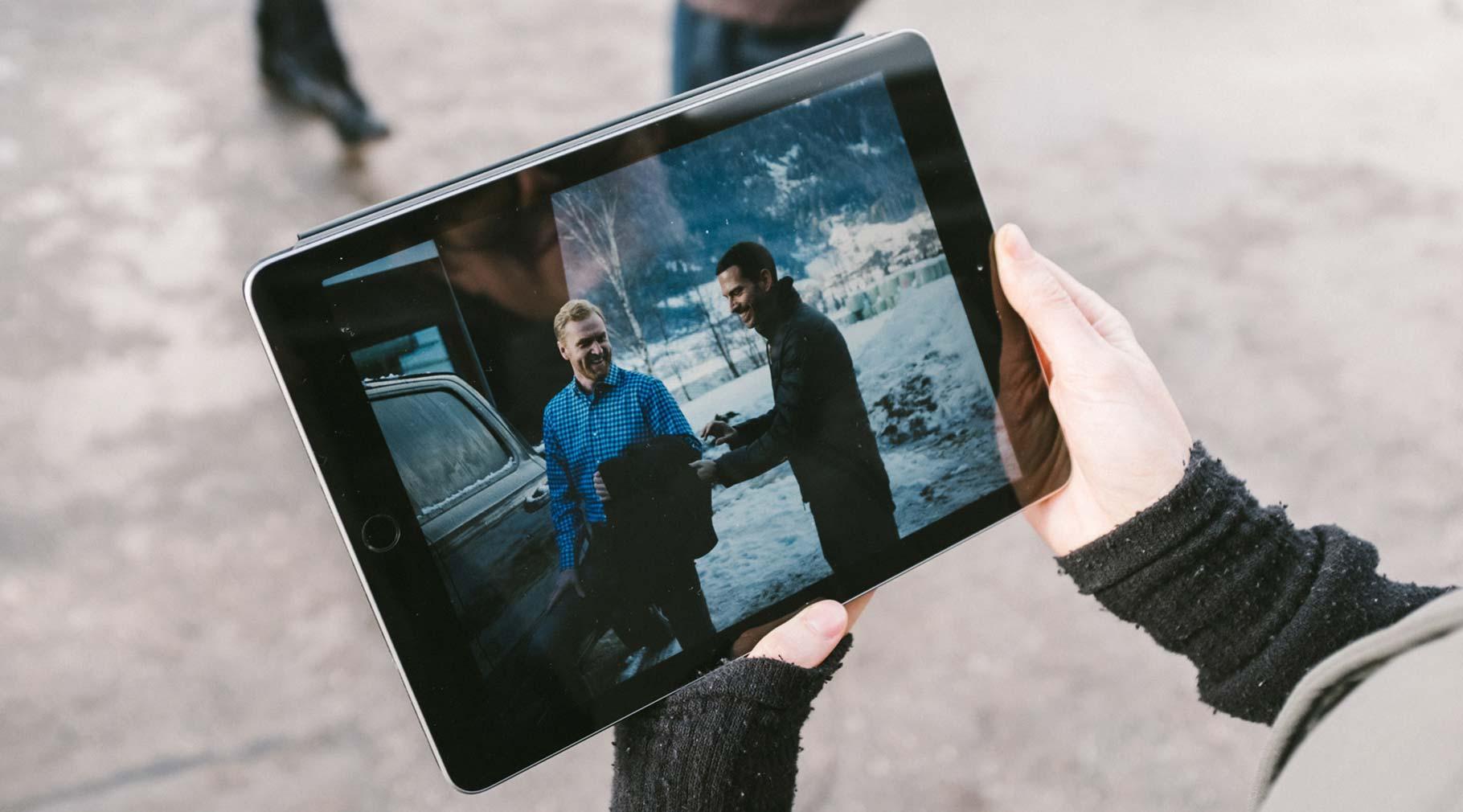 Bild auf einem Tablet