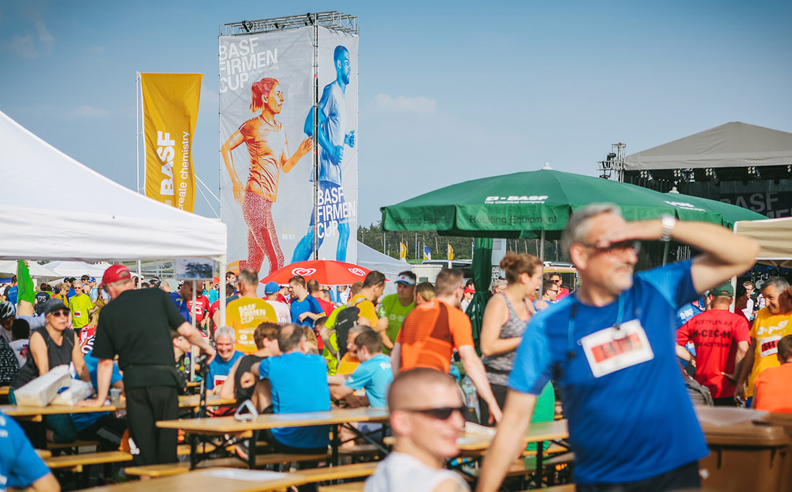 Meeting-Point-Area beim BASF FIRMENCUP