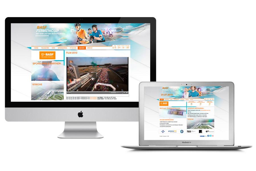 Die Event-Webseite mit allen Informationen für Teilnehmer und Sponsoren.