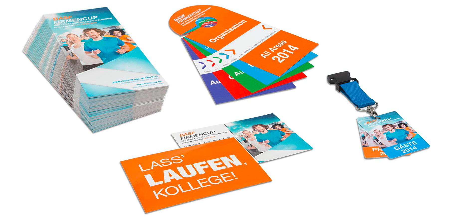 Flyer und andere Print-Materialien für das Event.