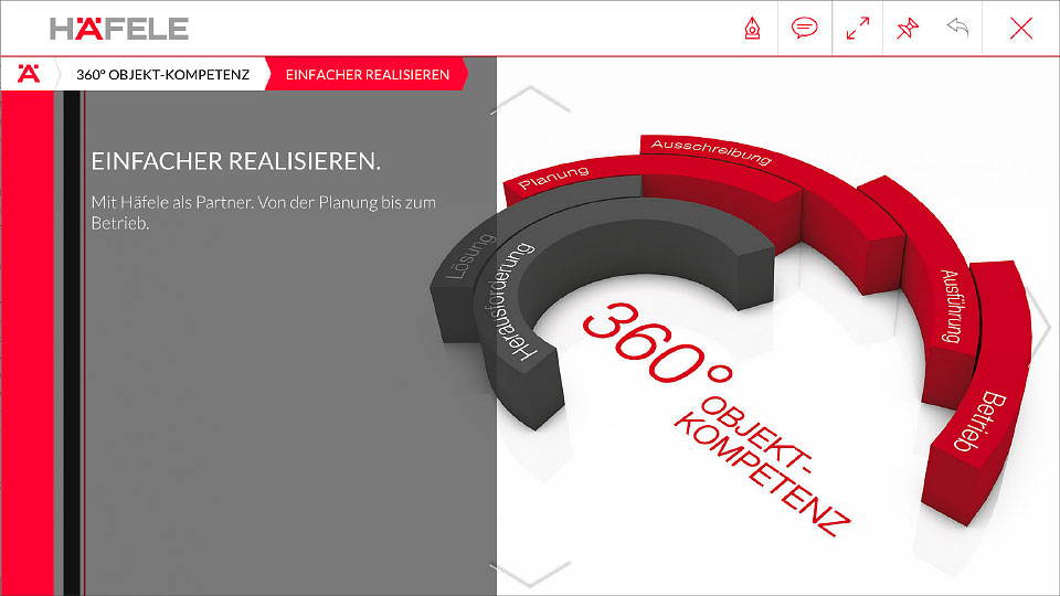 "Screen aus App nach Auswahl ""360° Objekt-Kompetenz"""