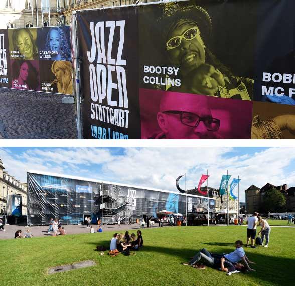 Event-Branding auf dem Stuttgarter Schlossplatz.