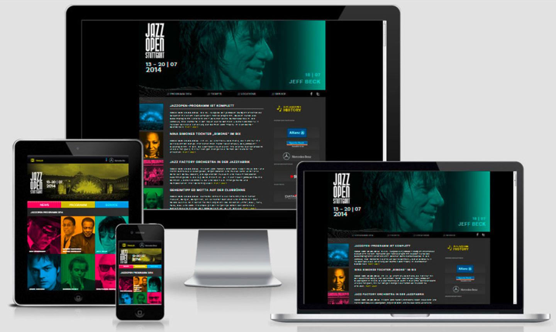 Webseite auf unterschiedlichen Devices.