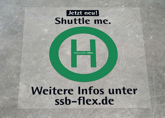 SSB-Flex-Bodenaufkleber