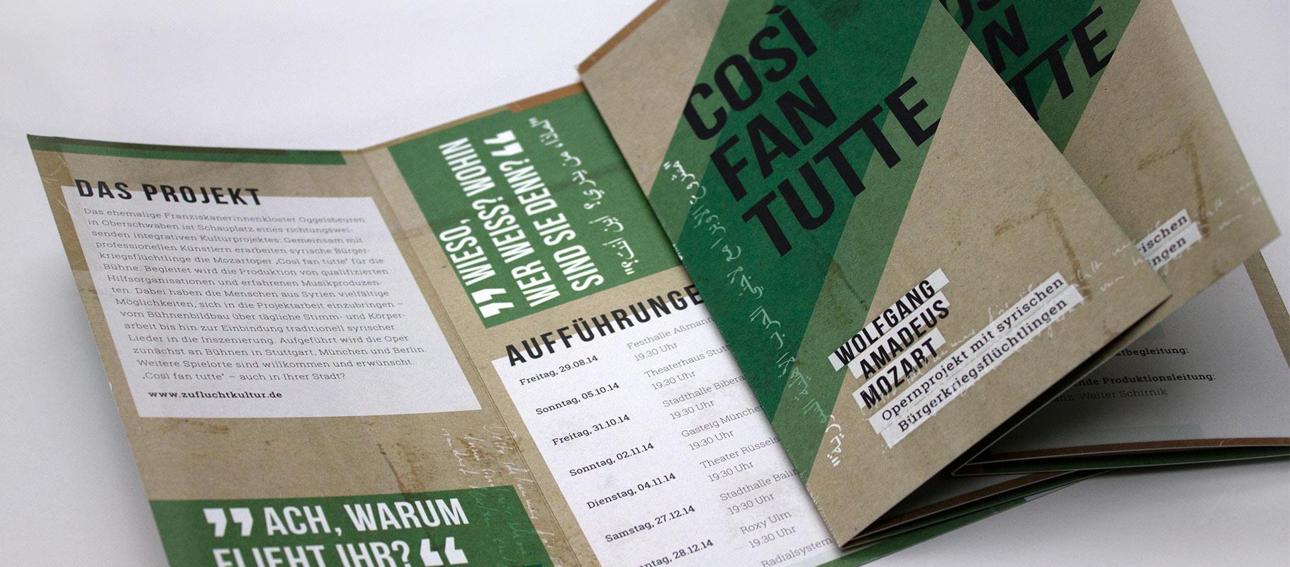 Opernprojekt COSI FAN TUTTE - Flyer